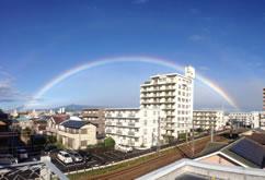 本学留学生が撮影した虹