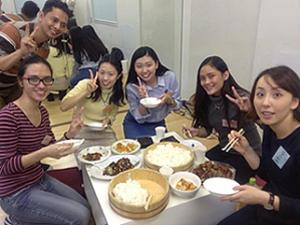 多文化食文化交流の風景